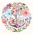 Anchor in watercolor technique vector image