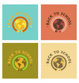 assembly flat icons back to school globe vector image