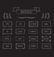 cafe blackboard menu hand drawn set vector image