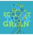 Ecology Infographic Think Green vector image