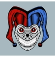 evil clown in colored cap vector image