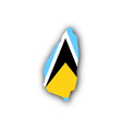 Map and flag of Saint Lucia vector image