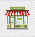 realistic shop icon vector image