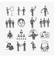 Sketch business people vector image