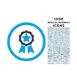 Award Rounded Icon with 1000 Bonus Icons vector image