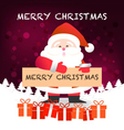 Merry Christmas happy Santa Claus Happy New Yea vector image