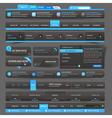 Web site design template navigation elements vector image vector image