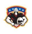 American Football Tackle Linebacker Helmet Shield vector image