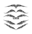 Wing element for design 002 vector image