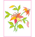 Card with beautiful flower vector image vector image
