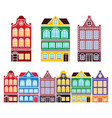amsterdam houses dutch buildings the netherlands vector image