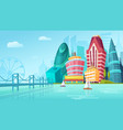 cartoon of an urban landscape vector image