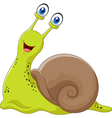 Cute snail isolated on white background vector image