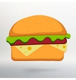 hamburger icon symbol with shadow vector image