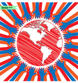 hands take care of cultural earth vector image