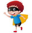 little boy wearing mask and cape vector image