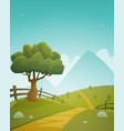 summer countryside landscape vector image