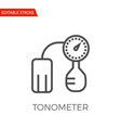 tonometer icon vector image