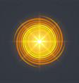 yellow swirl spiral vector image