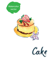 cake flower vector image