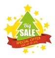 big sale special offer merry christmas tree banner vector image