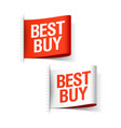 Best buy labels vector image