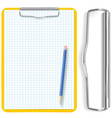 clipboard pencil and paper vector image vector image