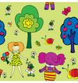 seamless garden print vector image vector image