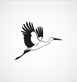 stork isolated vector image