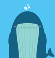 cute big fat whale vector image