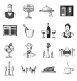 Restaurant set icons in monochrome style Big vector image