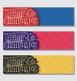 set banners for merry christmas vector image