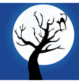 tree cat vector image