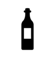 Wine bottle icon Silhouette vector image