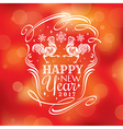 2017 new year greeting card with stylized roosters vector image