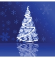 Christmas card in blue colors vector image