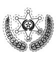 figure badge police signal icon vector image