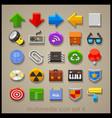 multimedia icon set-4 vector image vector image