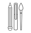 stationery icon outline line style vector image