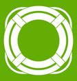 lifebuoy icon green vector image