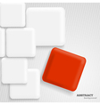 Abstract background with white and red squares vector image