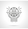 Basketball shot flat line icon vector image