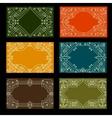 Set of visit card designs with ornate frames vector image
