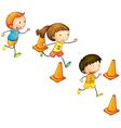 running kids vector image