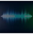 Blue sound wave on blackbackground EPS10 vector image