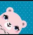 Cute bear head vector image