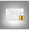 Mail Icon in Glass Button vector image