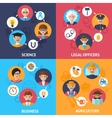 Teamwork people group vector image