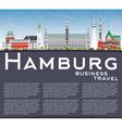 Hamburg Skyline with Gray Buildings vector image