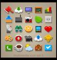 multimedia icon set-5 vector image vector image